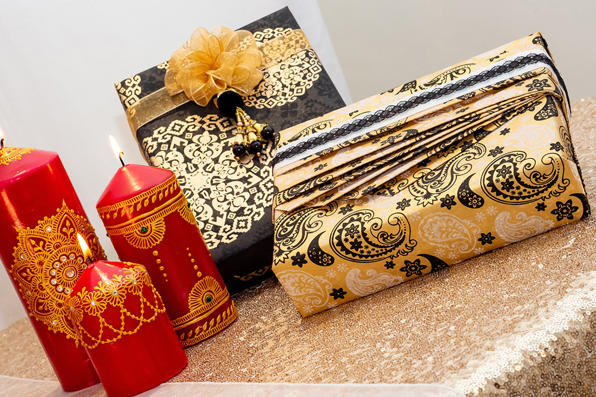 Asian fusion gift wrapping